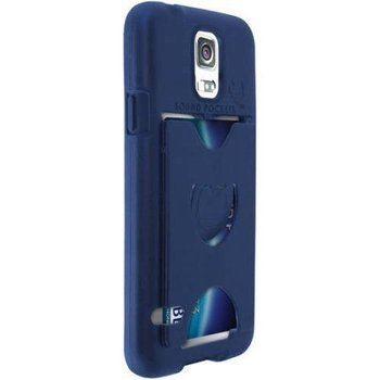 new arrival 0ba46 4e78d Details about Sound Pockets Encore Case W/Vibe HD Ear Phone & Storage  Samsung Galaxy S5 Blue